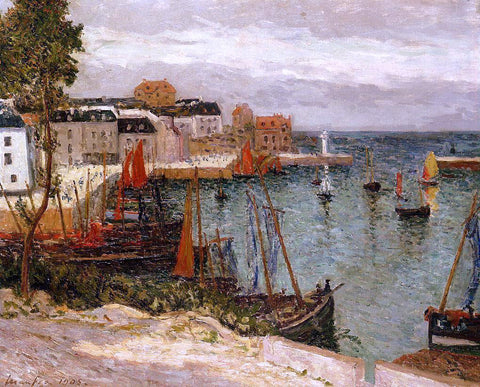Maxime Maufra The Port of Sauzon, Belle Isle en Mer - Hand Painted Oil Painting