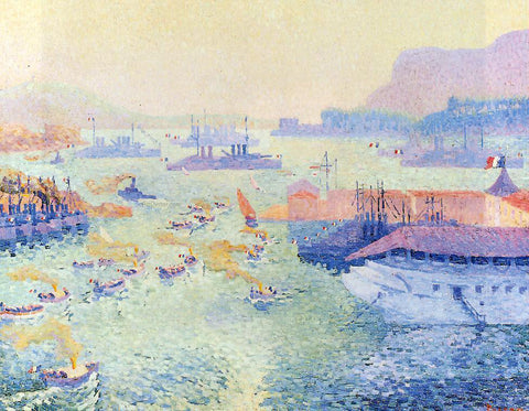 Henri Pearson The Port of Toulon - Hand Painted Oil Painting