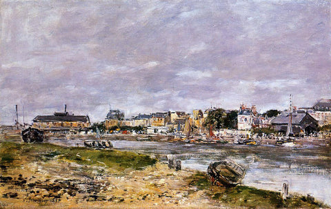 Eugene-Louis Boudin The Port of Trouville - Hand Painted Oil Painting