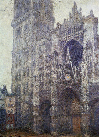 Claude Oscar Monet The Portal and the Tour d'Albene, Grey Weather - Hand Painted Oil Painting