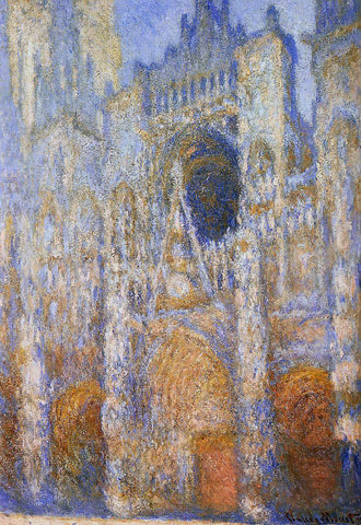 Claude Oscar Monet The Portal of Rouen Cathedral at Midday - Hand Painted Oil Painting