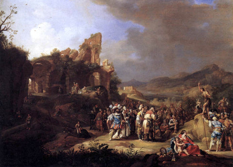 Bartholomeus Breenbergh The Preaching of St John the Baptist - Hand Painted Oil Painting