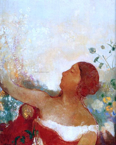 Odilon Redon The Predistined Child (also known as Ophelia) - Hand Painted Oil Painting