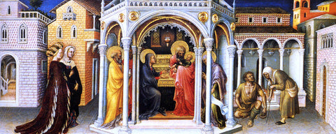 Gentile Da Fabriano The Presentation In the Temple - Hand Painted Oil Painting