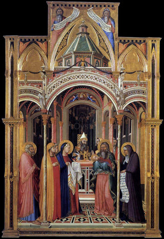 Ambrogio Lorenzetti The Presentation in the Temple - Hand Painted Oil Painting