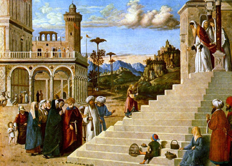 Cima Da Conegliano The Presentation of the Virgin - Hand Painted Oil Painting
