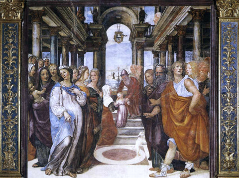 Il Sodoma The Presentation of the Virgin in the Temple - Hand Painted Oil Painting