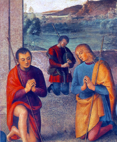 Pietro Perugino The Presepio (detail) - Hand Painted Oil Painting