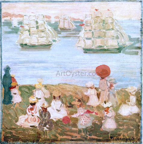 Maurice Prendergast The Pretty Ships (also known as As the Ships Go By) - Hand Painted Oil Painting