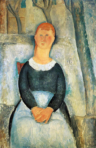 Amedeo Modigliani The Pretty Vegetable Vendor - Hand Painted Oil Painting