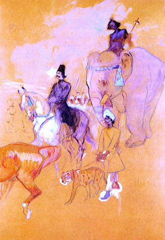 Henri De Toulouse-Lautrec The Procession of the Raja - Hand Painted Oil Painting