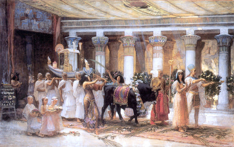 Frederick Arthur Bridgman The Procession of the Sacred Bull Anubis - Hand Painted Oil Painting