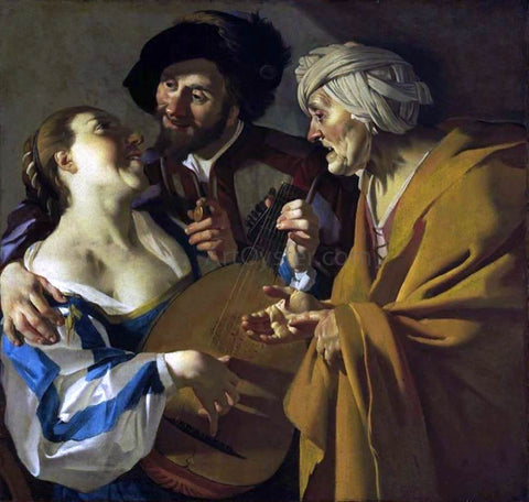 Dirck Van Baburen The Procuress - Hand Painted Oil Painting