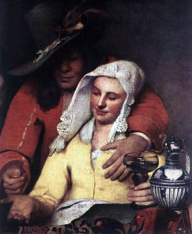 Johannes Vermeer The Procuress (detail: 1) - Hand Painted Oil Painting