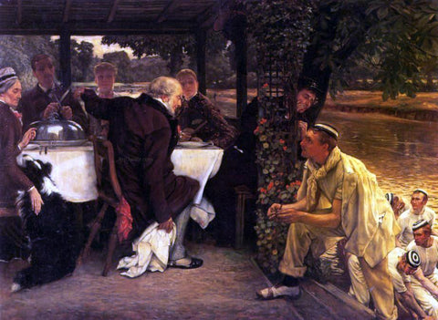 James Tissot The Prodigal Son in Modern Life: the Fatted Calf - Hand Painted Oil Painting
