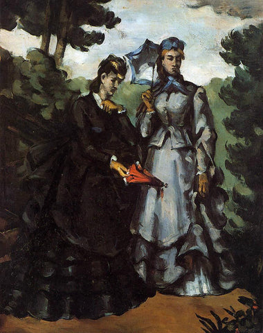 Paul Cezanne The Promenade - Hand Painted Oil Painting
