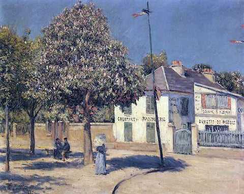 Gustave Caillebotte The Promenade at Argenteuil - Hand Painted Oil Painting