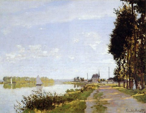 Claude Oscar Monet The Promenade at Argenteuil - Hand Painted Oil Painting