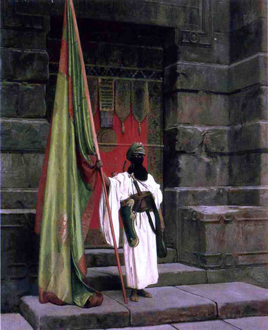 Jean-Leon Gerome The Prophet's Standard (also known as The Standard Bearer) - Hand Painted Oil Painting