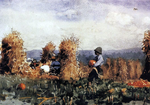 Winslow Homer The Pumpkin Patch - Hand Painted Oil Painting