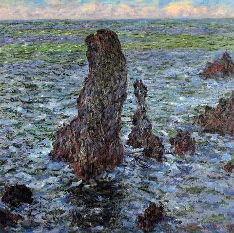 Claude Oscar Monet The 'Pyramids' at Port-Coton - Hand Painted Oil Painting