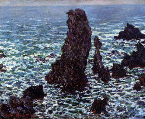 Claude Oscar Monet The 'Pyramids' of Port Coton, Belle-Ile-en-Mer - Hand Painted Oil Painting