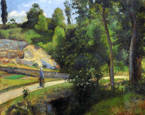 Camille Pissarro The Quarry, Pontoise - Hand Painted Oil Painting