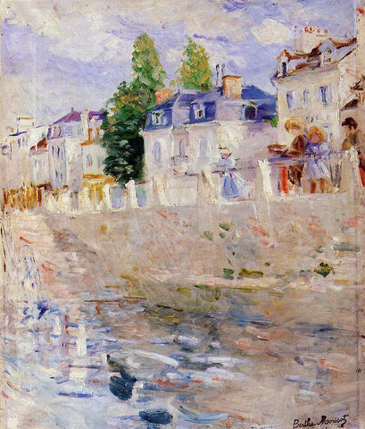 Berthe Morisot The Quay at Bougival - Hand Painted Oil Painting