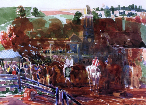 George Luks The Race Track - Hand Painted Oil Painting