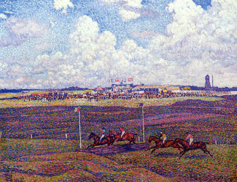Theo Van Rysselberghe The Race Track at Boulogne-sur-Mer - Hand Painted Oil Painting