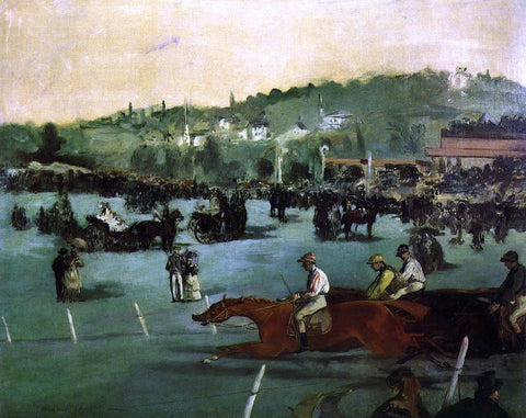 Edouard Manet The Races in the Bois de Boulogne - Hand Painted Oil Painting