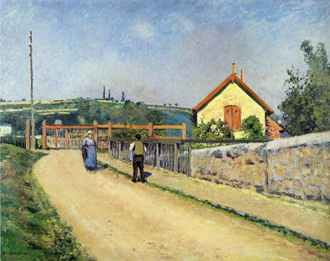 Camille Pissarro The Railroad Crossing at Les Patis - Hand Painted Oil Painting