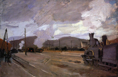 Claude Oscar Monet The Railroad Station at Argenteuil - Hand Painted Oil Painting
