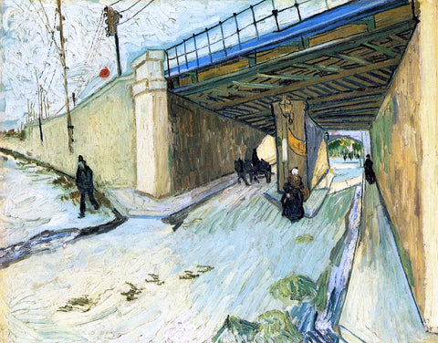 Vincent Van Gogh The Railway Bridge over Avenue Montmajour - Hand Painted Oil Painting