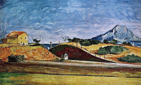 Paul Cezanne The Railway Cutting - Hand Painted Oil Painting