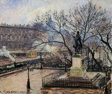Camille Pissarro The Raised Tarrace of the Pont-Neuf and Statue of Henri IV - Hand Painted Oil Painting