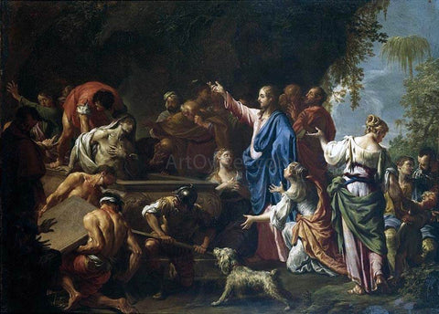 Francesco Trevisani The Raising of Lazarus - Hand Painted Oil Painting