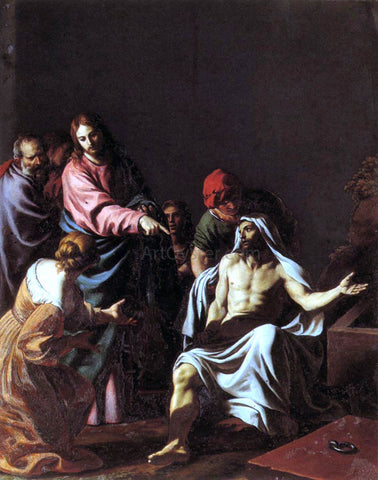 Alessandro Turchi The Raising of Lazarus - Hand Painted Oil Painting
