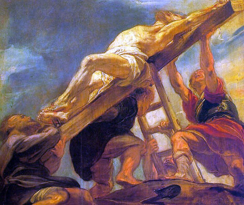 Peter Paul Rubens The Raising of the Cross - Hand Painted Oil Painting