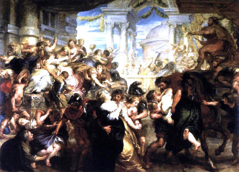 Peter Paul Rubens The Rape of the Sabine Women - Hand Painted Oil Painting