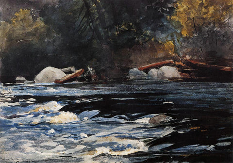 Winslow Homer The Rapids, Husdon River, Adirondacks - Hand Painted Oil Painting