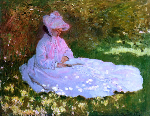 Claude Oscar Monet The Reader - Hand Painted Oil Painting