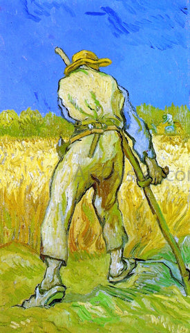 Vincent Van Gogh The Reaper (after Millet) - Hand Painted Oil Painting