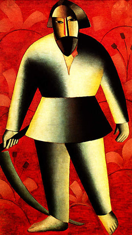 Kazimir Malevich The Reaper on Red - Hand Painted Oil Painting
