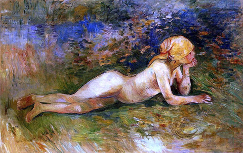 Berthe Morisot The Reclining Shepherdess - Hand Painted Oil Painting