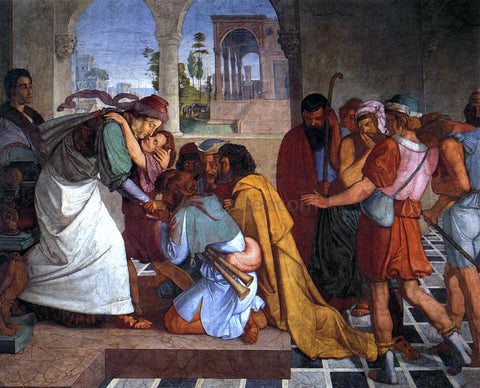 Peter Cornelius The Recognition of Joseph by his Brothers - Hand Painted Oil Painting