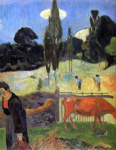 Paul Gauguin The Red Cow - Hand Painted Oil Painting