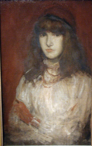 James McNeill Whistler The Red Glove - Hand Painted Oil Painting