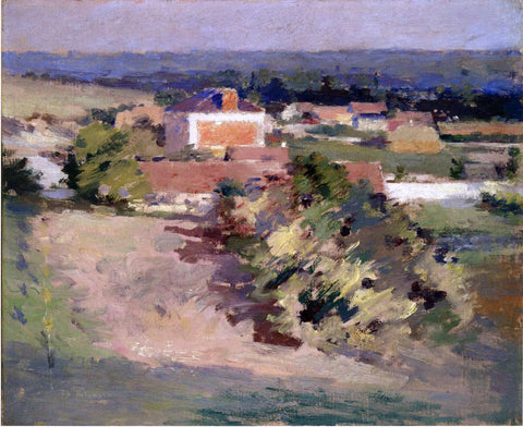 Theodore Robinson The Red House - Hand Painted Oil Painting