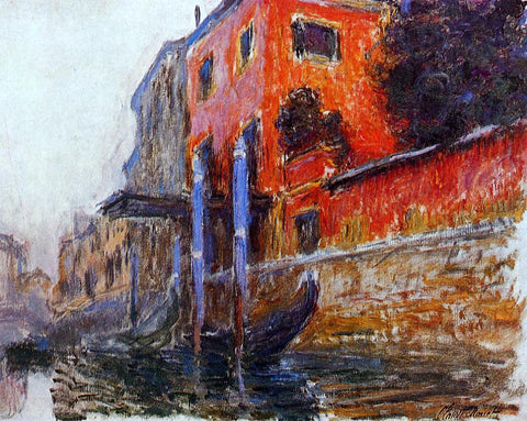 Claude Oscar Monet A Red House - Hand Painted Oil Painting